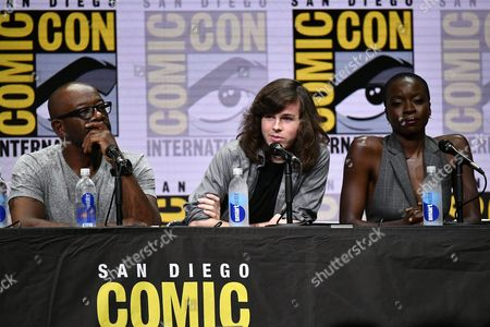 Lennie James, Chandler Riggs and Danai Gurira