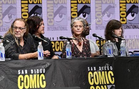 Greg Nicotero, Norman Reedus, Melissa McBride, Lennie James and Chandler Riggs