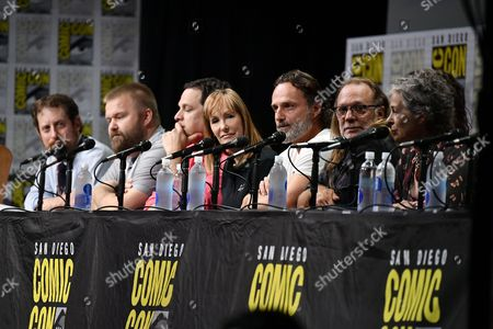 Scott M. Gimple, Robert Kirkman, David Alpert, Gale Anne Hurd, Andrew Lincoln, Greg Nicotero and Melissa McBride