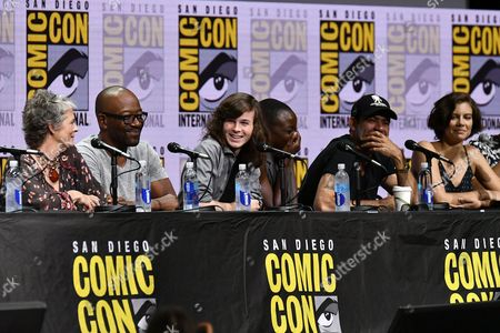 Melissa McBride, Lennie James, Chandler Riggs, Danai Gurira, Jeffrey Dean Morgan and Lauren Cohan