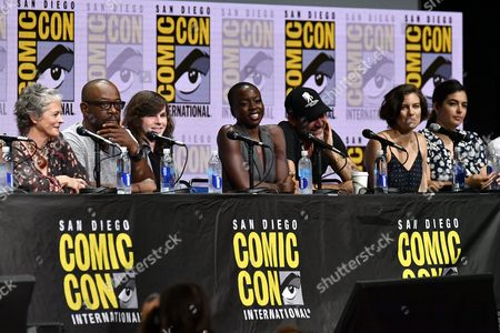 Melissa McBride, Lennie James, Chandler Riggs, Danai Gurira, Jeffrey Dean Morgan, Lauren Cohan and Alanna Masterson