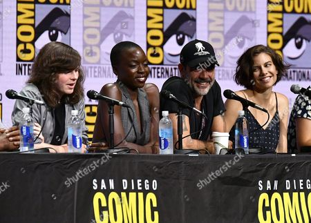 Chandler Riggs, Danai Gurira, Jeffrey Dean Morgan and Lauren Cohan
