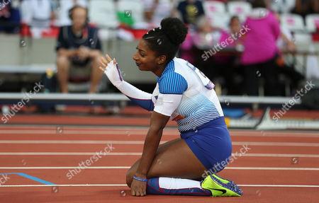 Kadeena Cox of Great Britain wins gold in the Women's 400m T38 Final