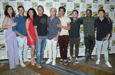 Stock Photo of Shelley Hennig, Charlie Carver, Melissa Ponzio, Linden Ashby, Colton Haynes, Tyler Posey, Dylan Sprayberry, Khylin Rhambo