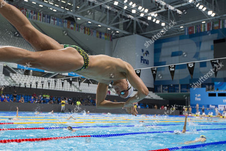 Swimmer Cameron McEvoy of Australia is pictured during a training session held at the Duna Arena one day prior to the start of the swimming events of the 17th FINA World Championships 2017 in Budapest, Hungary, 22 July 2017.
