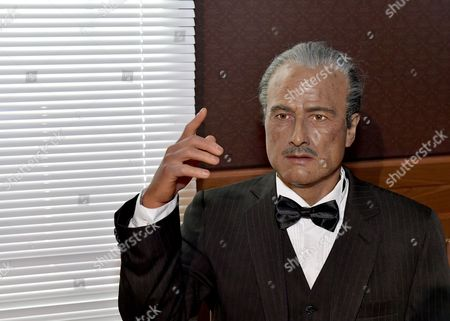 Marlon Brando is depicted in wax at the Dreamland Wax Museum in Boston, Massachusetts