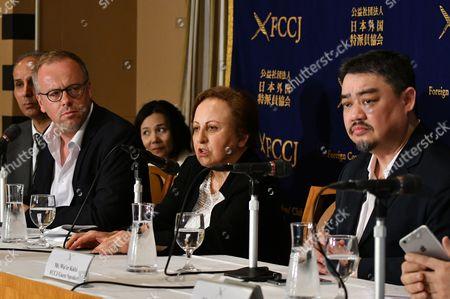 Christophe Deloire, Shirin Ebadi, Wu'er Kaixi