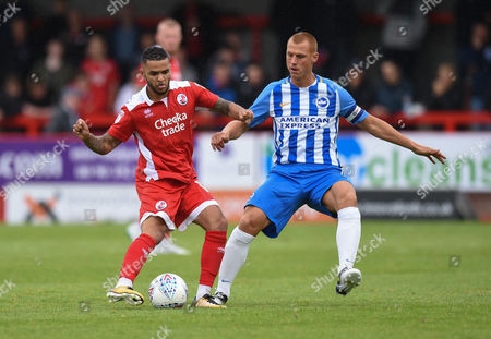Steve Sidwell of Brighton & Hove Albion and Billy Clifford of Crawley Town