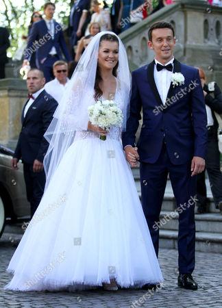 Editorial image of Agnieszka Radwanska and Dawid Celt wedding, Krakow, Poland - 22 Jul 2017