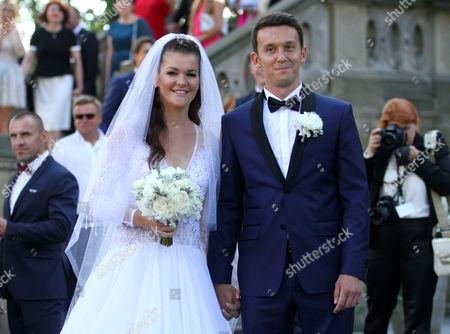Editorial photo of Agnieszka Radwanska and Dawid Celt wedding, Krakow, Poland - 22 Jul 2017