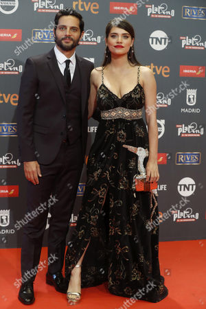 Argentinian actors Joaquin Furriel and Eva de Dominici pose as they arrive at the 4th Ibero American Cinema Platino Awards ceremony at the Magic Box in Madrid, Spain, 22 July 2017.