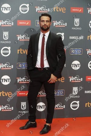 Spanish actor Jesus Castro poses as he arrives at the 4th Ibero American Cinema Platino Awards ceremony at the Magic Box in Madrid, Spain, 22 July 2017.