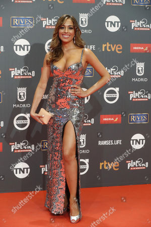 Spanish actress Grecia Castta poses as she arrives at the 4th Ibero American Cinema Platino Awards ceremony at the Magic Box in Madrid, Spain, 22 July 2017.