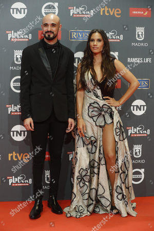 Spanish singer India Martinez (R) and Argentinian composer Abel Pinto pose as they arrive at the 4th Ibero American Cinema Platino Awards ceremony at the Magic Box in Madrid, Spain, 22 July 2017.