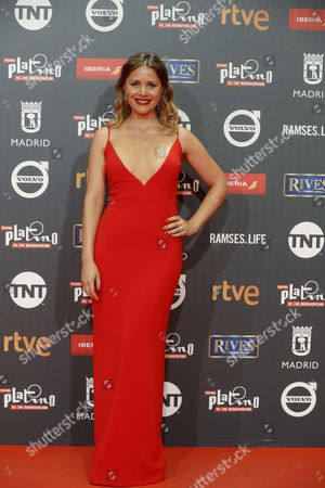 Spanish actress Lisi Linder poses as she arrives at the 4th Ibero American Cinema Platino Awards ceremony at the Magic Box in Madrid, Spain, 22 July 2017.