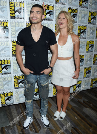 Rick Gonzalez and Emily Bett Rickards