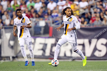 , 2017; Foxborough, MA, USA; Los Angeles Galaxy midfielder Jermaine Jones (13) in action during the first half of an MLS match between Los Angeles Galaxy and New England Revolution at Gillette Stadium. New England won 4-3