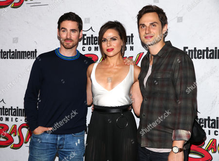 Colin O'Donoghue, Lana Parrilla and Andrew J. West