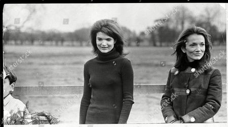 Editorial picture of Jackie Onassis Pictured With Her Sister Princess Lee Radziwell. Jacqueline Lee Bouvier Kennedy Onassis (died May 1994) Widow Of President John F. Kennedy And Shipping Magnate Aristotle Onassis. Jackie Kennedy
