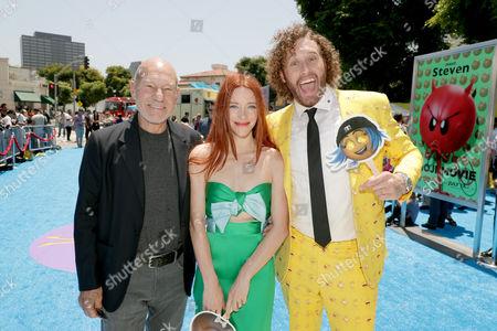 Kate Gorney, Sir Patrick Stewart and TJ Miller