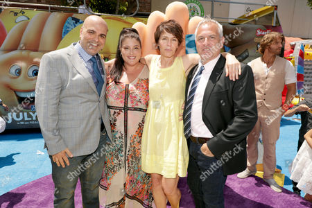Director/Writer/Actor Tony Leondis, Producer Michelle Raimo, Kristine Belson, President of Sony Pictures Animation, Writer/Actor Eric Siegel