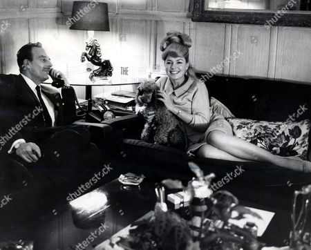 Val Guest Film Director Actor And Writer (1911-10th May 2006) With His Wife Actress Yolande Donlan At Home.