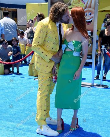 Stock Picture of Kate Gorney and T.J. Miller