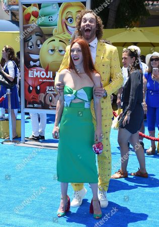 Stock Image of Kate Gorney and T.J. Miller