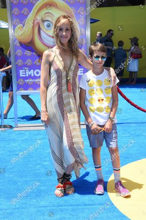 Kim Raver and son Leo Kipling Boyer