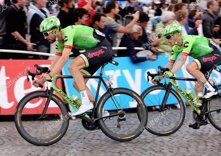 Taylor Phinney followed by Andrew Talansky (USA) Cannondale