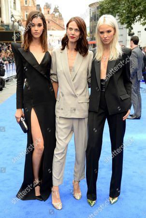 Pauline Hoarau, Aymeline Valade and Sasha Luss