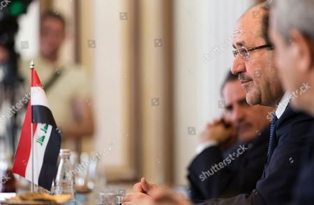 Vice President of Iraq Nouri al-Maliki listens during his meeting with Valentina Matviyenko, speaker of the Federation Council, Russian parliament's upper chamber, in Moscow, Russia, on