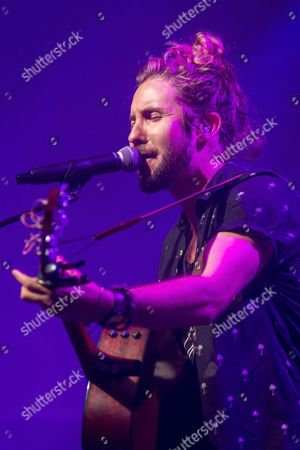 South African singer-songwriter Jeremy Loops performs during his concert at the Blue Balls Festival in Lucerne, Switzerland, 24 July 2017. The music event runs from 21 to 29 July.