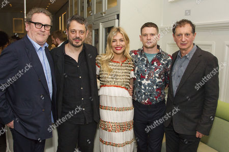 Colm Meaney (Big Daddy), Benedict Andrews (Director), Sienna Miller (Maggie), Jack O'Connell (Brick) and David Lan (Artistic Director)