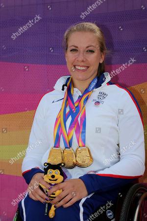 Hannah Cockroft, Great Britain Triple World Champion T34 class 100m 400m 800m at the World Para Athletic Championships London 2017