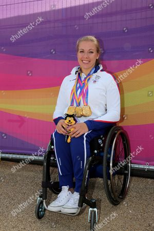 Hannah Cockroft, Great Britain Triple World Champion T34 class 100m 400m 800m at the World Para Athletic Championships London 2017