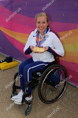 Editorial photo of Hannah Cockroft at the World Para Athletic Championships, London, UK - 21 Jul 2017
