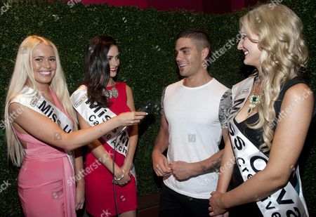 Max George with Shannen Reilly McGrath, Aoife McGrane and Naomi Graham
