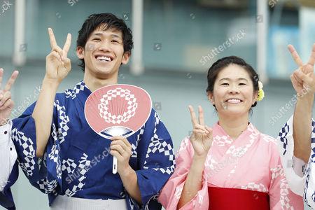 Stock Photo of (L-R) Maharu Yoshimura, Homare Sawa