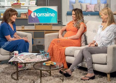 Lorraine Kelly with Danielle Lloyd and mum Jackie