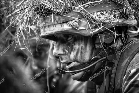 Picture shows officer cadets from the Royal Military Academy Sandhurst on Exercise Dynamic Victory in Bavaria in March 2017 was the overall winner of the contest. Army photographer Murray Kerr took the picture of the cadets on the course, which tests the cadets~ suitability to become junior officers in the field army. This stirring collection of photos which offer a glimpse behind the scenes of ARMY life have all been selected as winners in an annual competition.