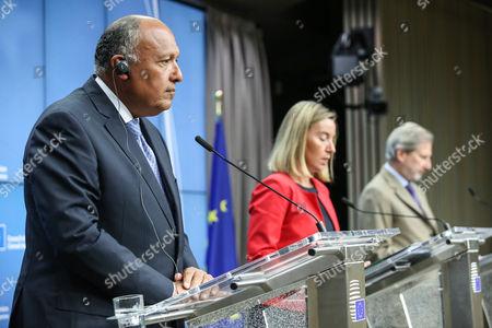 Sameh Hassan Shoukry, Federica Mogherini, Johannes Hahn