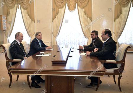 Stock Picture of Nouri al-Maliki and Vladimir Putin