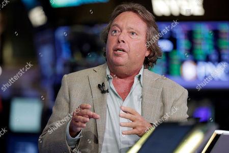 IMAX CEO Richard Gelfond is interviewed on the floor of the New York Stock Exchange
