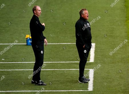 Sheffield United manager Chris Wilder and Sheffield United Assistant Manager Alan Knill