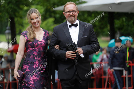 Actors Ann-Kathrin Kramer and Harald Krassnitzer arrive for the opening of the Bayreuth Opera Festival in Bayreuth, Germany
