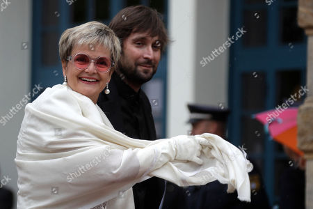 Gloria, Princess von Thurn und Taxis, arrives for the opening of the Bayreuth Opera Festival in Bayreuth, Germany