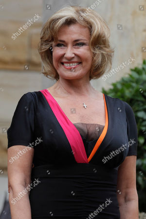 Dagmar Woehrl, member of the German Parliament, arrives for the opening of the Bayreuth Opera Festival in Bayreuth, Germany