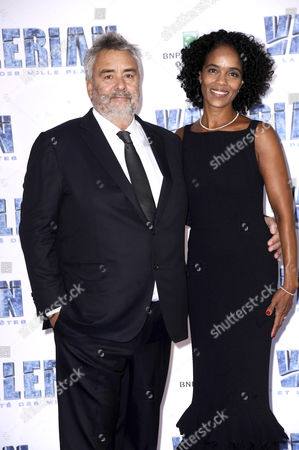 Stock Picture of Luc Besson and Virginie Besson-Silla