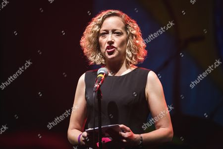 Channel 4 News Presenter Cathy Newman on stage at #c_nttouchthis for Global Comfort